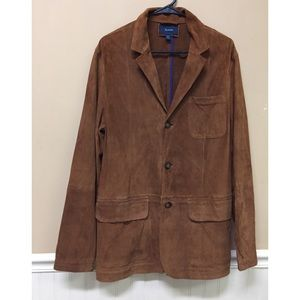 FACONNABLE GOAT SKIN  LEATHER Sports Coat JACKET